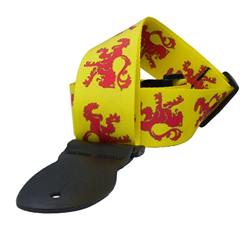 LeatherGraft Yellow Red Lion Colour Print Nylon Electric Aco