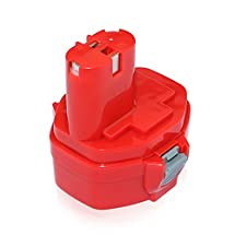efluky 14.4V 3.0Ah Ni-CD Rechargeable Battery Packs Power Tool Replacement Battery Cordless Drill for Makita PA14 1422 1433
