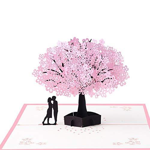 - TEKEFT Sakura 3D Card, Anniversary Card, Mother's Day Card, Birthday, Christmas, New Year, Valentine's Day, Wedding, Graduation, Romantic Unique Pop-up Greeting Card