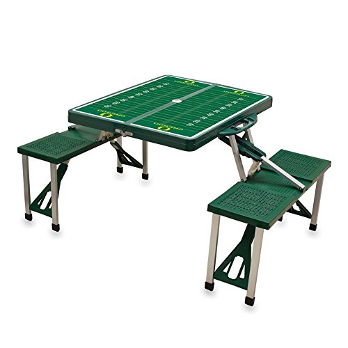 NCAA University of Oregon Ducks Digital Print Picnic Table Sport, Green, One Size by PICNIC TIME