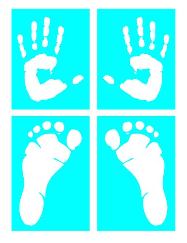 (Auto Vynamics - STENCIL-HUMANPRINTSET01-X - Life-Size Handprints & Footprints Stencil Set - With Left & Right, Hand & Foot Designs! - (2) 7-by-9-inch Sheets & (2) 7-by-10-inch Sheets - (4))