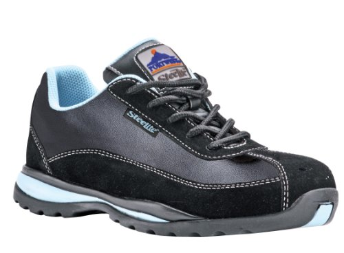 Toe Portwest Shoe Capped Bleu Ladies Trainer Lightweight Boot Safety Azur Steelite Work r58nr