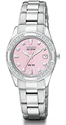 Citizen Women's Eco-Drive Regent 20 Diamonds Sapphire Crystal Watch EW1821-55X