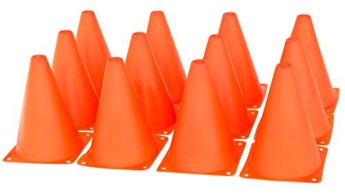 Active Kyds Orange Play Construction Traffic Cones, 12 Pack Orange Construction Cone