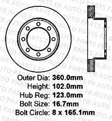 Heavy Tough-Series 8lug 4 Semi-Metallic Pads Front Kit 2 Black Coated Cross-Drilled Disc Brake Rotors Fits:- Dodge Ram