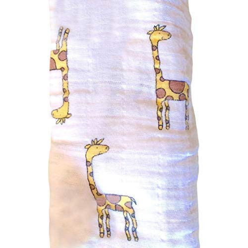 Baby Receiving Blanket Giraffe Cotton Stroller product image