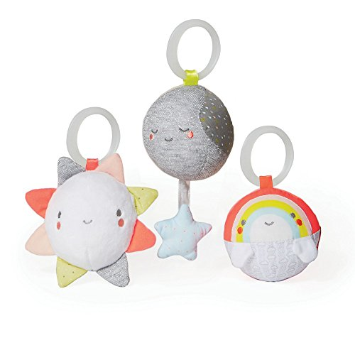 Skip Hop Silver Lining Cloud Ball Trip Activity Toys, Multi, (3/pack) (Trio Baby Toy)