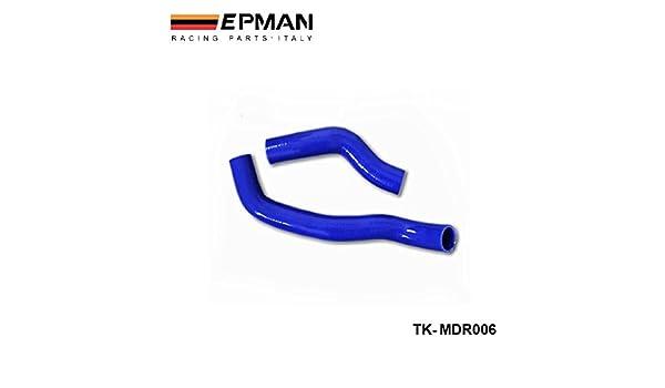 EPMAN- Racing de silicona turbo intercooler radiador Kit de la manguera para Mazda RX7 FC3S (2pcs) TK-MDR006: Amazon.es: Coche y moto