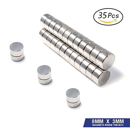 - Refrigerator Magnets, 35PCS Premium Brushed Nickel Fridge Round Magnets,Office Magnets by LightningStore- 8 X 3 mm