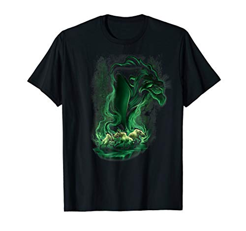 Disney Lion King Scar Smoke Graphic T-Shirt]()
