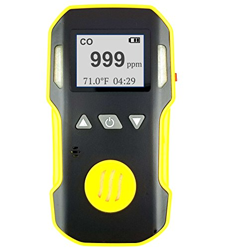 Carbon Monoxide CO Meter by Forensics | Professional Precision Series | Water, Dust & Explosion Proof | USB Recharge | Sound, Light and Vibration Alarms | 0-1000 ppm |