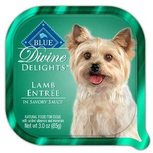 Blue Buffalo Divine Delights Lamb Entree in Savory Sauce Dog Food, 3-oz tray