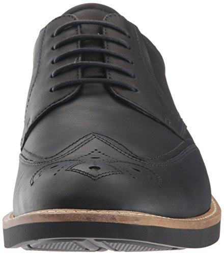 Ecco Mens Biarritz Modern Brogue Oxford Svart