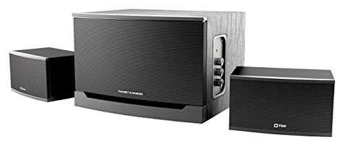 Thonet And Vander Laut  Certfied Refurbished    300 Watt Wood Multimedia Audio Speaker System  2 1 Stereo Speakers With Integrated Amplifier And Dual Rca Stereo Inputs  Black