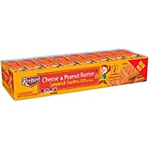 Keebler Cheese and Peanut Butter Sandwich Crackers, Value Pack, Single Serve, 1.38 oz Packages(27 Count)