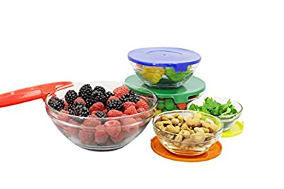 FARBERWARE FG8617 10-Piece Food Storage Bowl Set, 7x4x7, Multicolor