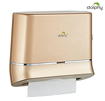 Dolphy Multifold Mini Hand Towel Paper Dispenser Gold Commercial Restroom Fixtures at amazon