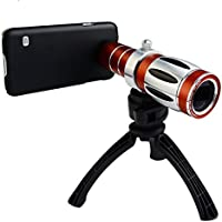 Apexel 20X Ultra Beast Magnifier Zoom Manual Focus Telephoto Telescope Phone Camera Lens Kit with High-end Tripod for Samsung Galaxy S7