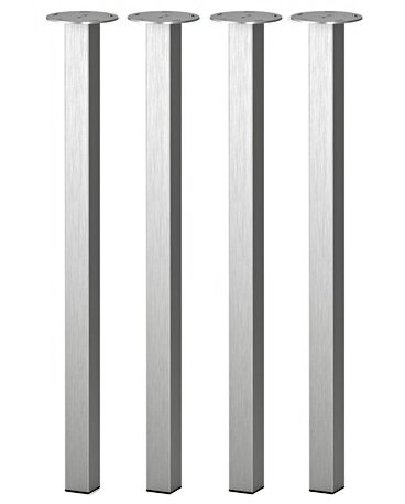 Tischbeine Ikea ikea sjunne metal table legs steel nickel plated silver set of