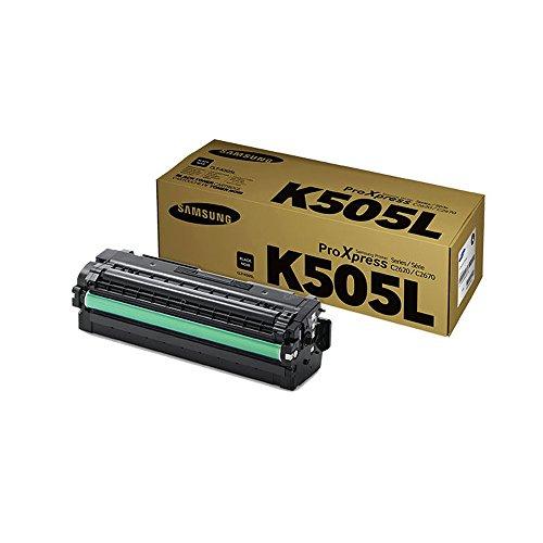 Samsung CLT-K505L Black Toner Cartridge Standard Yield (6,000 Yield)