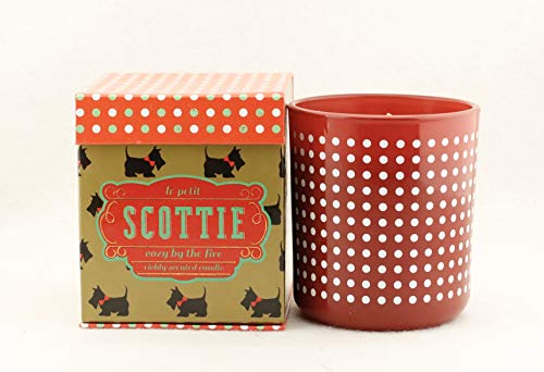 DW Home The Le Petit Scottie Collection Medium Glass Container Candle Cozy by The Fire ()