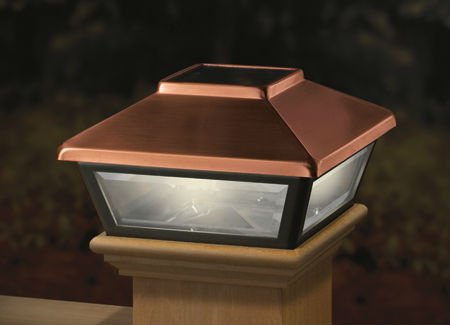 Copper-Plated Solar Post Cap Light Decorative Solar Light for 4x4 (Low Voltage Post Cap Lights)