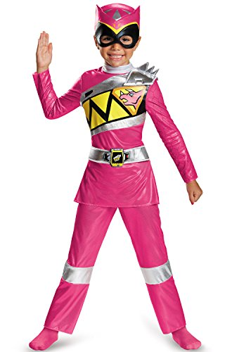 Pink Ranger Dino Charge Deluxe Toddler Costume, Large (4-6x) - Childs Pink Power Ranger Costumes