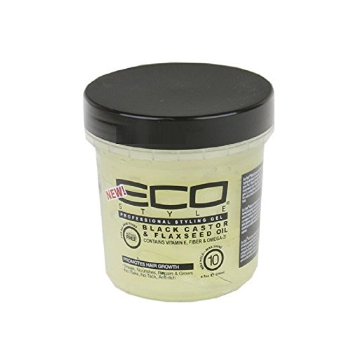 Eco Style Gel Black Castor and Flaxseed Oil, 8 Ounce (Best Eco Styler Gel For 4a Hair)