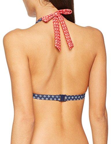 ESPRIT Bodywear Orlando Beach Halterneck Pad, Bikini para Mujer Azul (Navy)