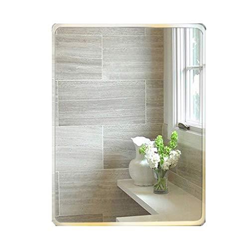 Bathroom Mirror,Rectangle Makeup Wall Mounted Vanity Mirror,Bevelled Frameless Glass Paste Mirror,Home Bedroom -