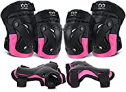 Knee Pads Elbow Pads with Wrist Guards Protective Gear Set for Kids Youth Adult Skateboard Sports Rollerblade