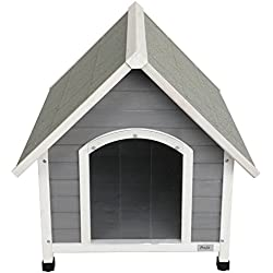 "Petsfit 39.8"" L x 33.1"" W x 34.1"" H Wooden Dog House, Outdoor Pet House, Painted with Water-Based Paint"