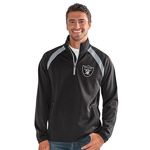 G-III Sports NFL Oakland Raiders High Impact Half Zip Pullover, 6X, Black