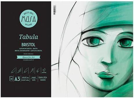 MUSA CWR Tabula Album Bristol A3 Liscio 240gr 20 Fogli