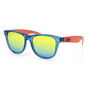 Zanheadgear Minty Sunglass Blue & Orange Smoke Yellow Mirror
