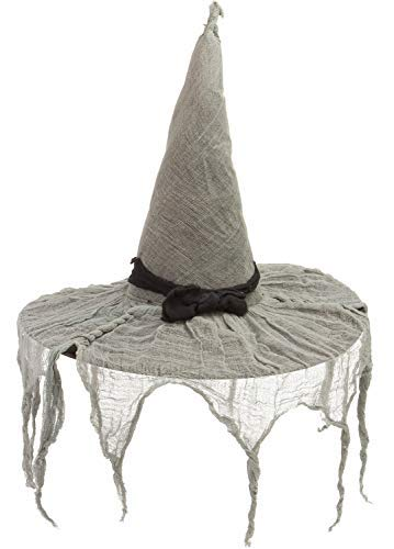 AMSCAN Tattered Witch Hat Halloween Costume Accessories, One Size ()