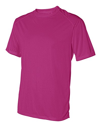 Badger Mens B-Core Short-Sleeve Performance Tee  -HOT PINK -