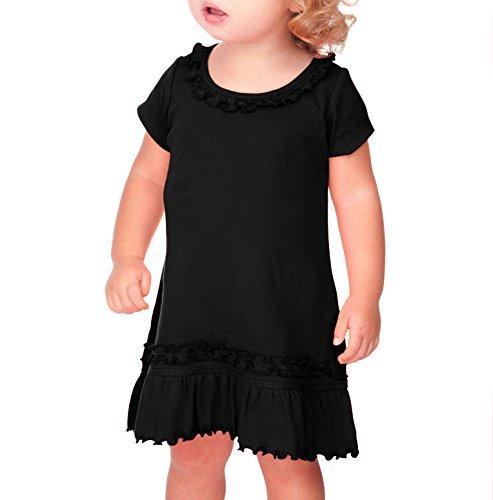 Dress Black Toddler (Kavio! Infants Sunflower Short Sleeve Dress Black)