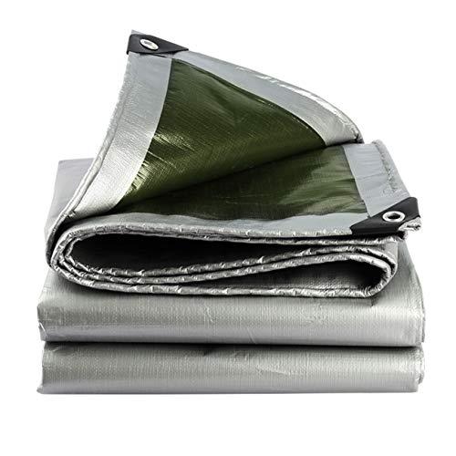 DONGYUER Sunscreen Tarpaulin Thicken Outdoor Regendich Waterproof Shade Covering The rain Truck Sail rain Punch Tent Accessories Waterproof Planpaulin,3  6m