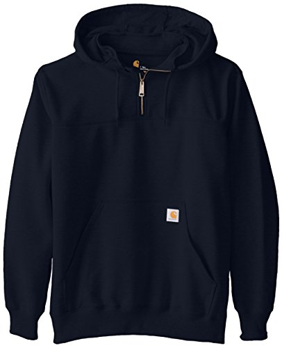 Sweatshirt Thermal Carhartt (Carhartt Men's  Rain Defender Paxton Heavyweight Hooded Zip Mock Neck Sweatshirt,New Navy,Large Tall)