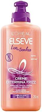 Creme Para Pentear Elseve Liso dos Sonhos, 250Ml, L'Oréal P