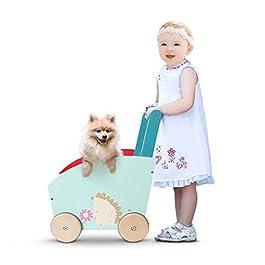 andador para bebés de madera