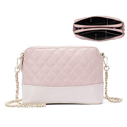 Fashion Quilted Bag for Women Small Crossbody Shoulder Bag Clutch Handbag with Chain Strap