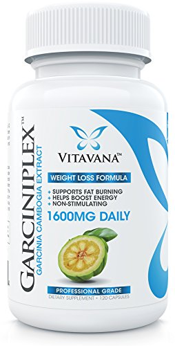 Garciniplex Garcinia Cambogia Extract Pure 1600mg :: (120 Capsules) :: Professional Grade, Super-Strength Formula with 100% Pure HCA (3-Bottles) by Vitavana