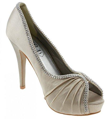 Élégant Plateau Blanc Stiletto Muse Talon Toe Noir Aiguille En Femme Chaussures De Champagne Peep V1566 HCdggZFq