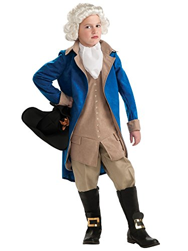 Rubie's Deluxe George Washington Children's Costume, Large -