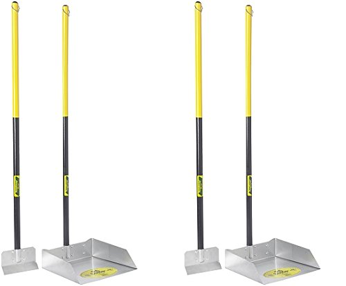 Flexrake 67W Large Scoop and Spade Set with 36-Inch Cherry Stained Wood Handle (2-Pack)