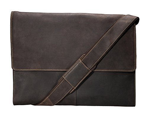 - Visconti Half Flap Xl Messenger Bag, Brown, X-Large