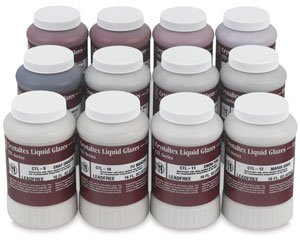 AMACO Crystaltex Glaze Classroom Pack 1, Assorted Colors, Set of 12 Pints