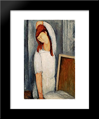 Portrait of Jeanne Hebuterne with her Left Arm Behind her Head 20x24 Framed Art Print by Modigliani, Amedeo ()